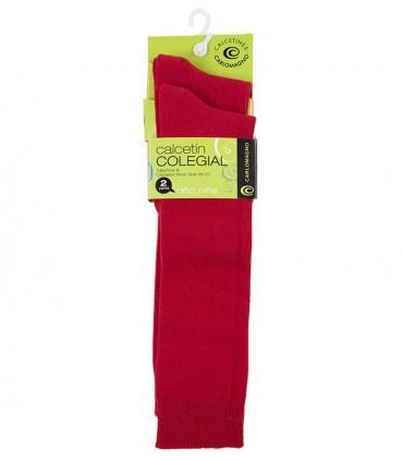 Calcetines hasta la rodilla rojos (dos pares)